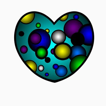 Turquoise Blue Valentines Day Heart by GiriMan