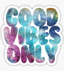Good Vibes Only Watercolor Sticker