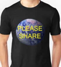Please Share, T Shirts & Hoodies. ipad & iphone cases T-Shirt