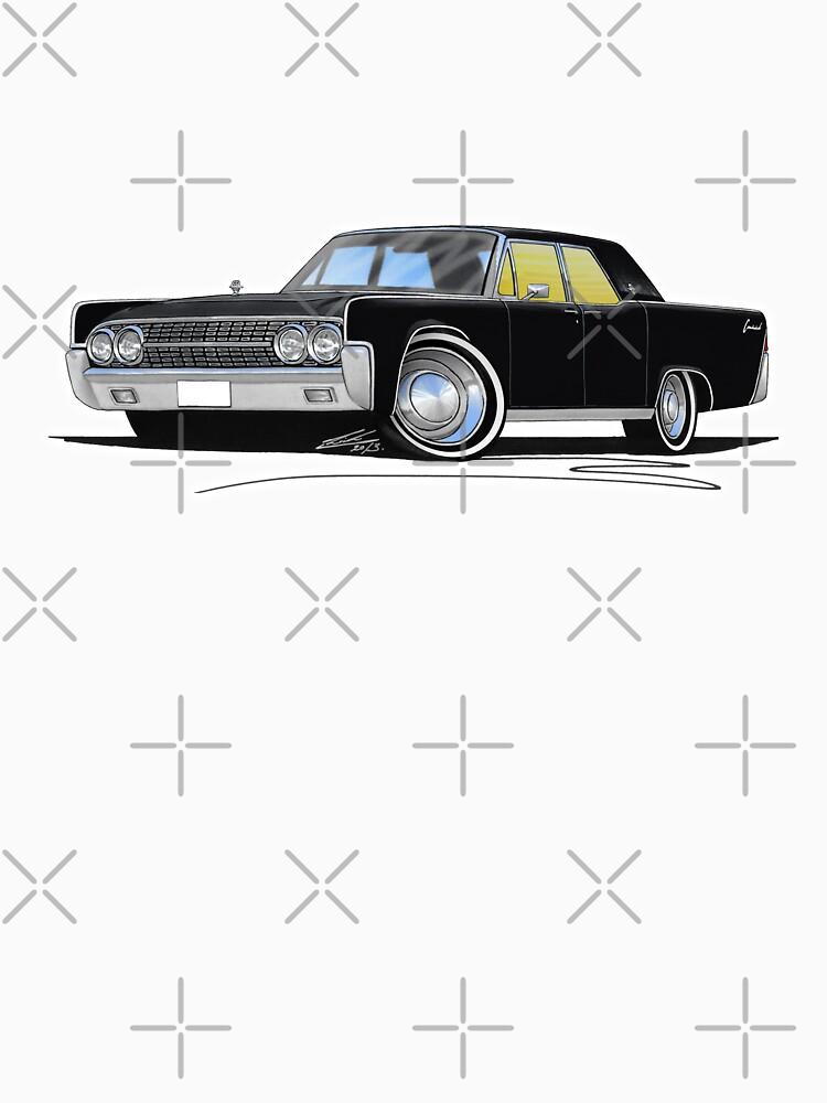 Lincoln Continental (1963) Sedan Black by yeomanscarart