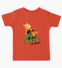 OP's Pizza Delivers (large - no pun intended) Kids Tee