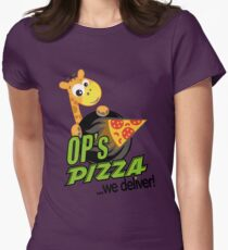 OP's Pizza Delivers (large - no pun intended) Womens Fitted T-Shirt
