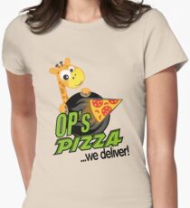 OP's Pizza Delivers (large - no pun intended) Women's Fitted T-Shirt