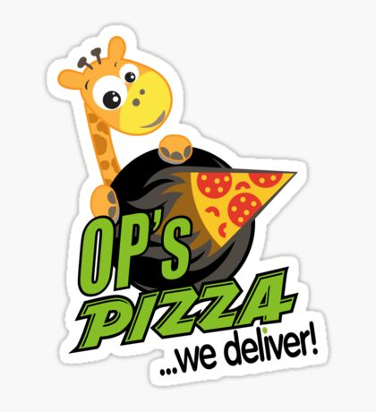 OP's Pizza Delivers (large - no pun intended) Sticker