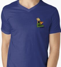 OP's Pizza Delivers (small pocket) Mens V-Neck T-Shirt