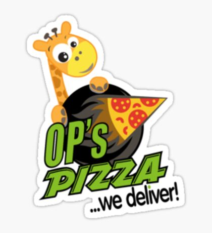 OP's Pizza Delivers (small pocket) Sticker