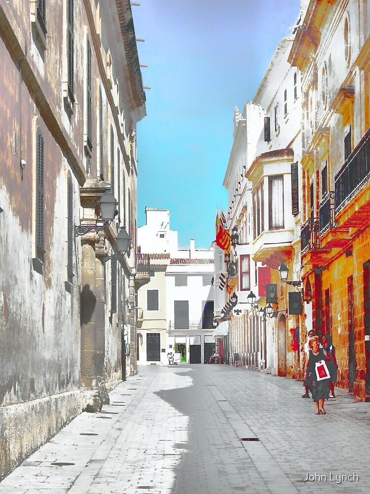 Quiet shopping day in Ciutadella by John Lynch