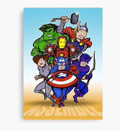 Mighty Heroes Canvas Print