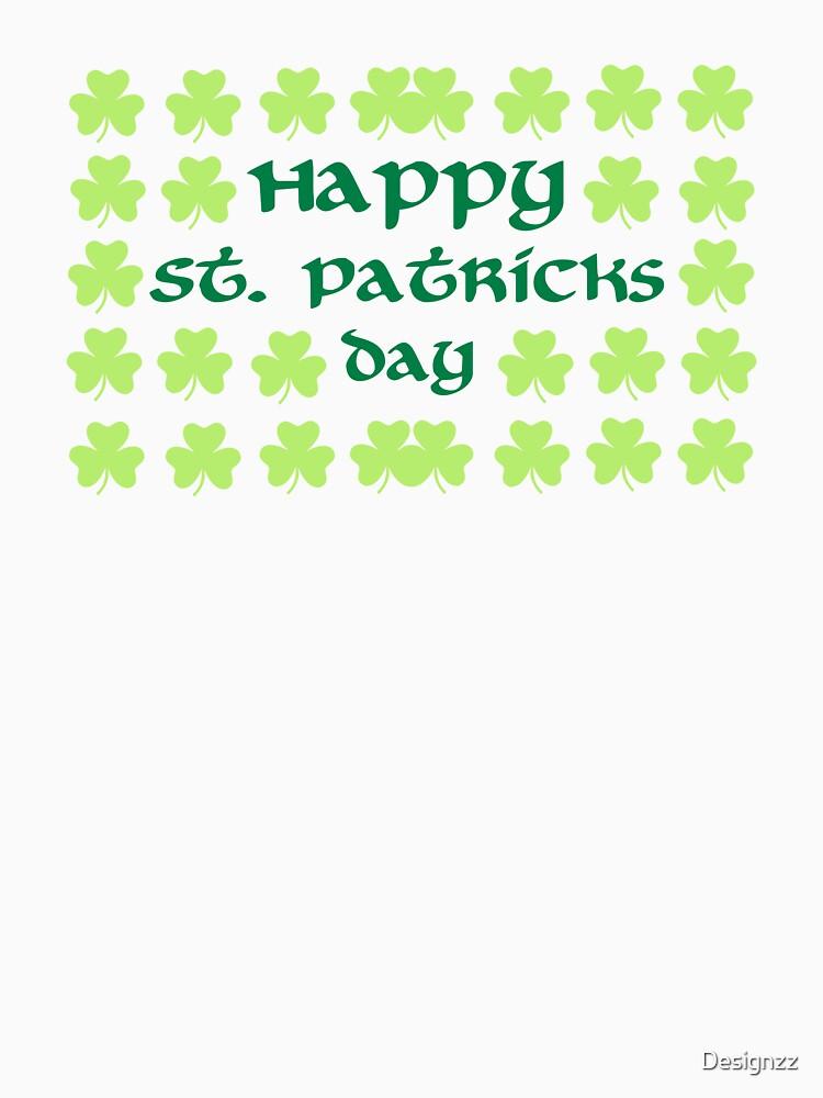 Happy St. Patrick's day shamrocks by Designzz