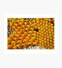 Yellow fruit Art Print