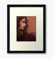 Coffee Brown Framed Print