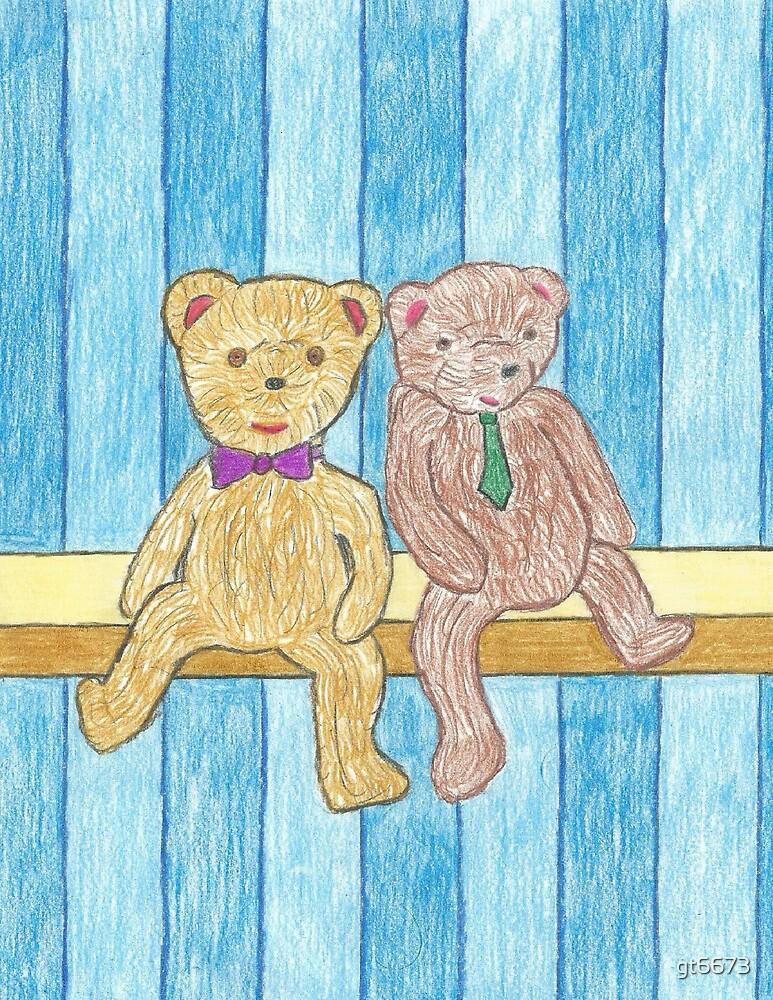 A Couple Bears on a Shelf by gt6673
