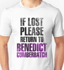 If lost please return to Benedict Cumberbatch Unisex T-Shirt