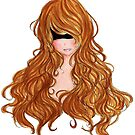 Abstract Anime Drawing Flowing hair BoHo Style Fashion  by Rafey-Chan