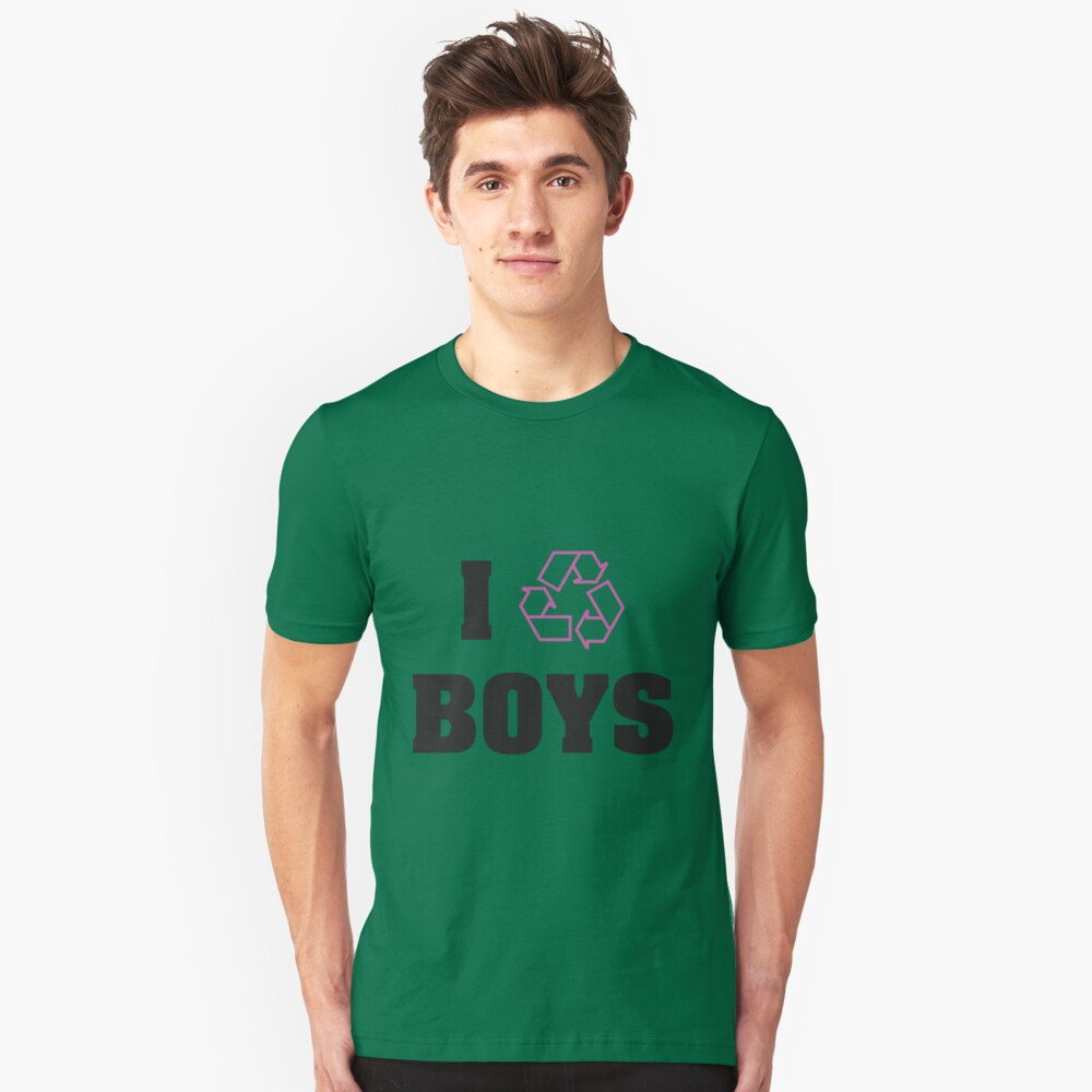 I Recycle Boys Unisex T-Shirt Front