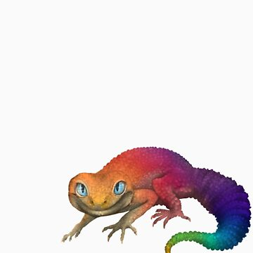 Rainbow Leopard Gecko by knon