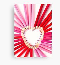 pencil heart.. Canvas Print