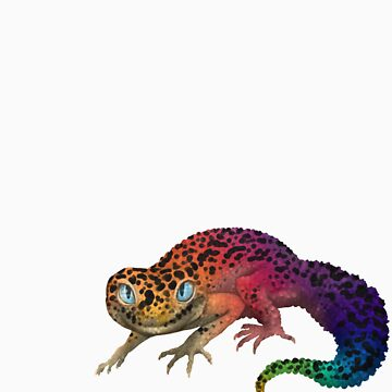 Rainbow Spotted Leopard Gecko by knon