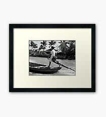 Off to School Viet Style Framed Print