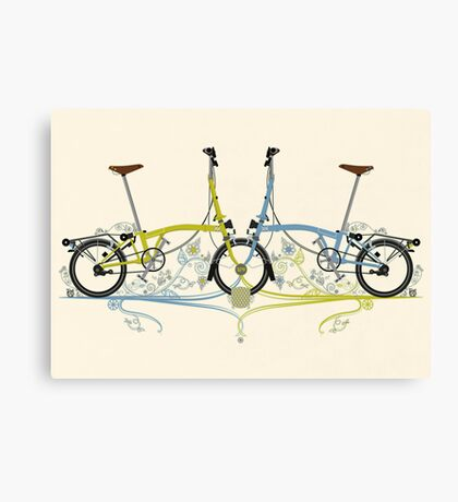 Brompton Bicycle Canvas Print