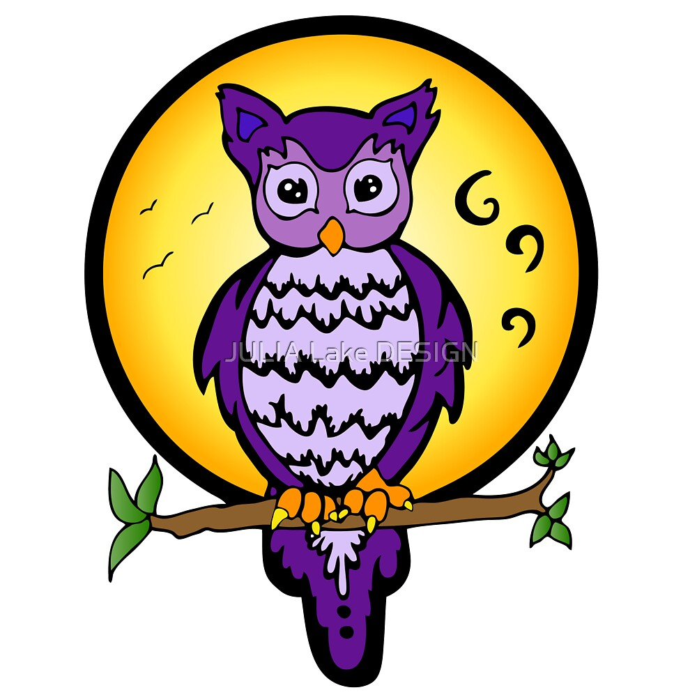 Purple Owl by JULIA Lake DESIGN