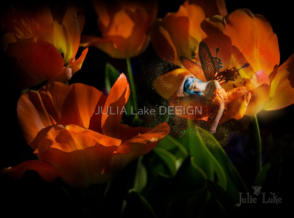 Sleeping in Flowers by JULIA Lake DESIGN