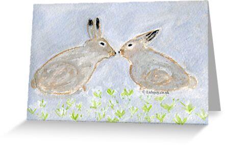 Loving Rabbits  Conejitos Amorosos by lulujoy