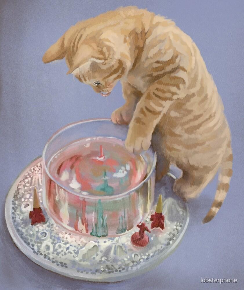 Kitten and Magic Moon Rocks by lobsterphone