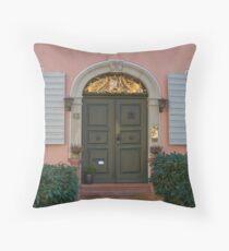 Burkheim, Kaiserstuhl - door detail Throw Pillow