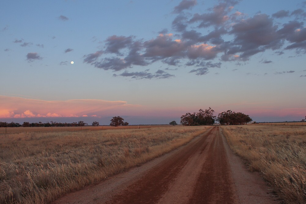 Sunset Mallee Road by Laura O'Dwyer
