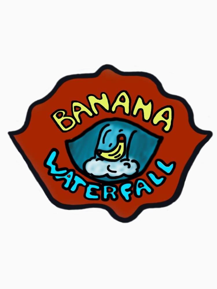 Banana Waterfall T-Shirt by planettheo