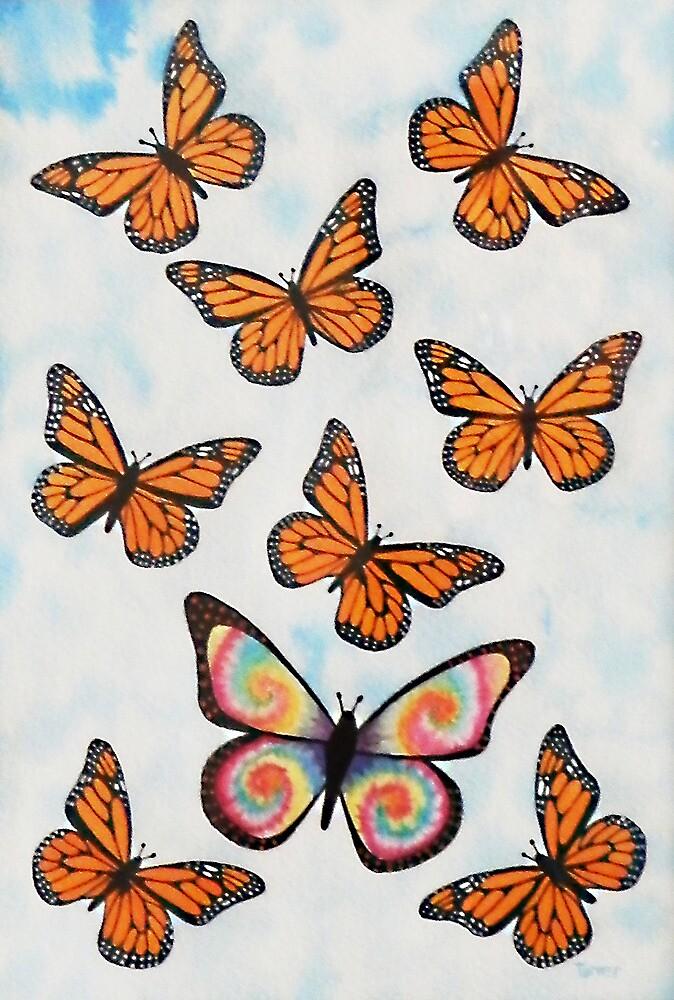 Tie Dye Butterfly by StephenLTurner