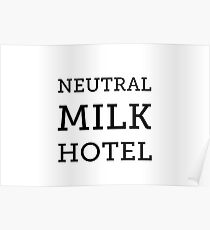 Neutral Milk Hotel - Black Poster
