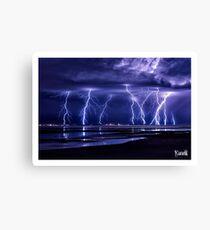 Electric Beach Canvas Print