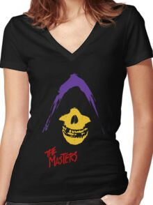 MASTERS FIEND CLUB Women's Fitted V-Neck T-Shirt