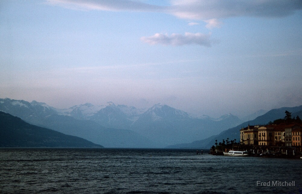 Mountains to north of Lake Como Bellagio Italy 19840424 0075 by Fred Mitchell