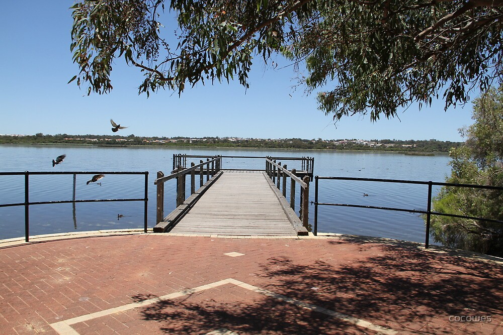 Local lake and semi Jetty Joondalup by cocowes