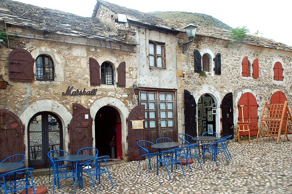 Old street in Mostar by Arie Koene