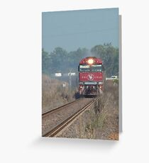 The Ghan passing through Darwin outskirts Greeting Card