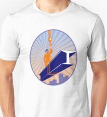 Steel Worker I-Beam Girder Ride Retro T-Shirt