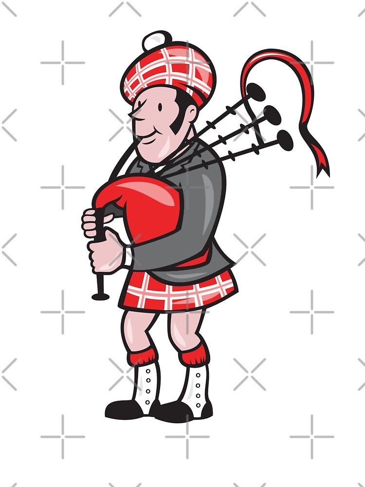 Scotsman Bagpiper Bagpipes Cartoon by patrimonio