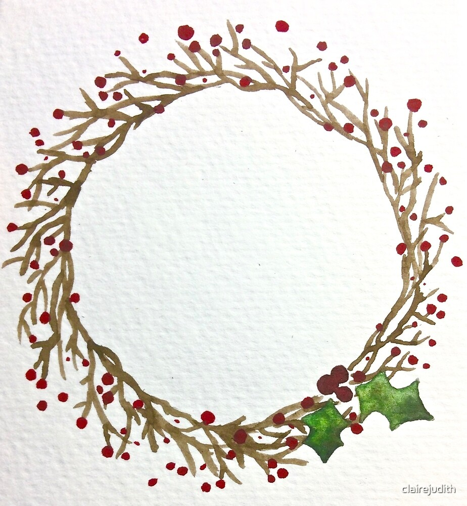 Christmas Berry Wreath by clairejudith