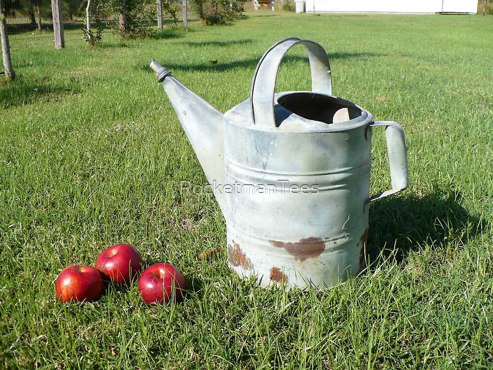 Watering Can & Apples by RocketmanTees