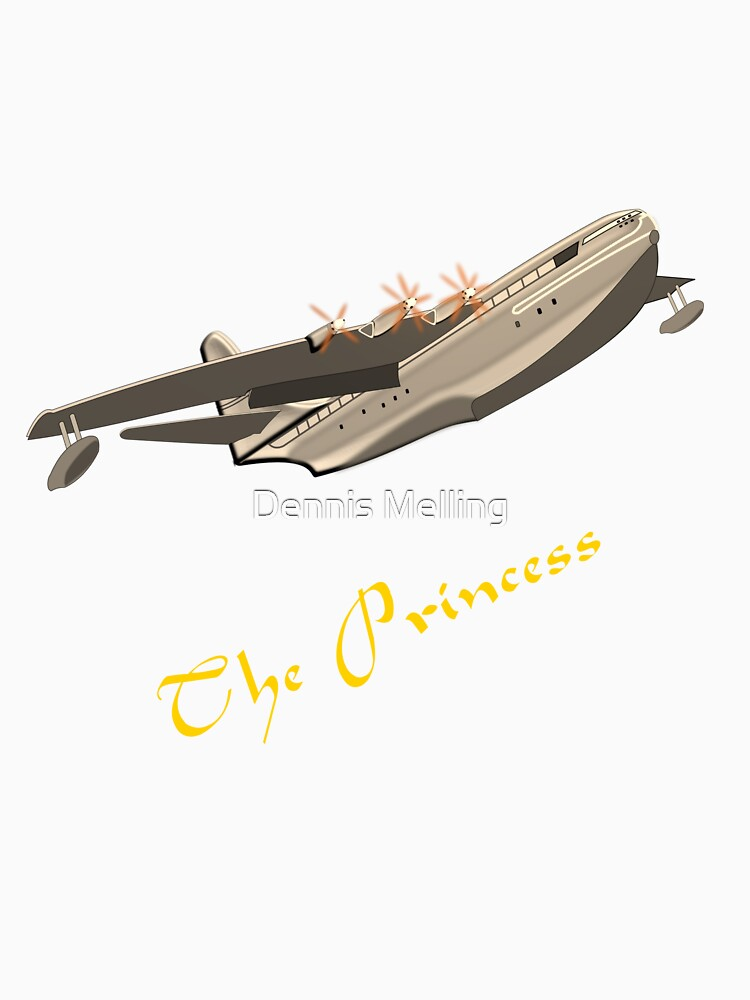 The Saunders-Roe SR.45 Princess T-shirt by ZipaC