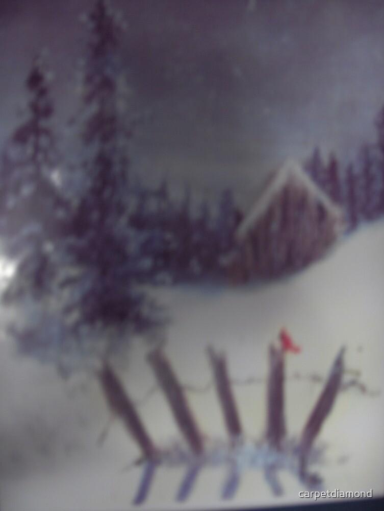 Winter Cottage by carpetdiamond