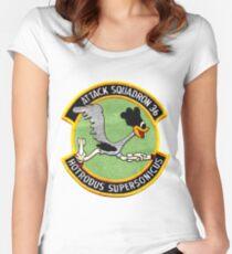 VA-36 Roadrunners Alternate Patch Women's Fitted Scoop T-Shirt