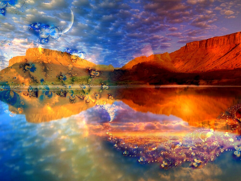 Reflection of a Sky by Brian Exton