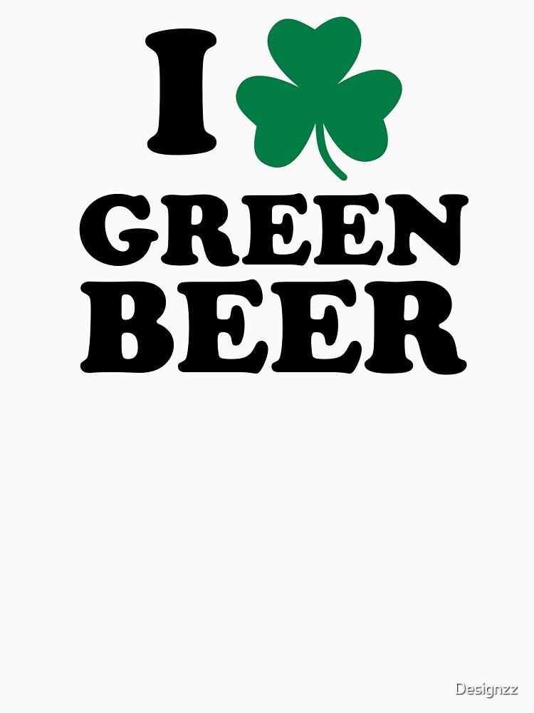 I love green beer shamrock by Designzz