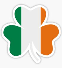 Ireland flag shamrock Sticker