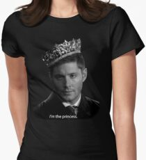 Dean Winchester Is The Princess Womens Fitted T-Shirt
